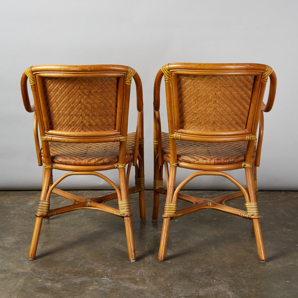 A pair of conservatory armchairs,-135365