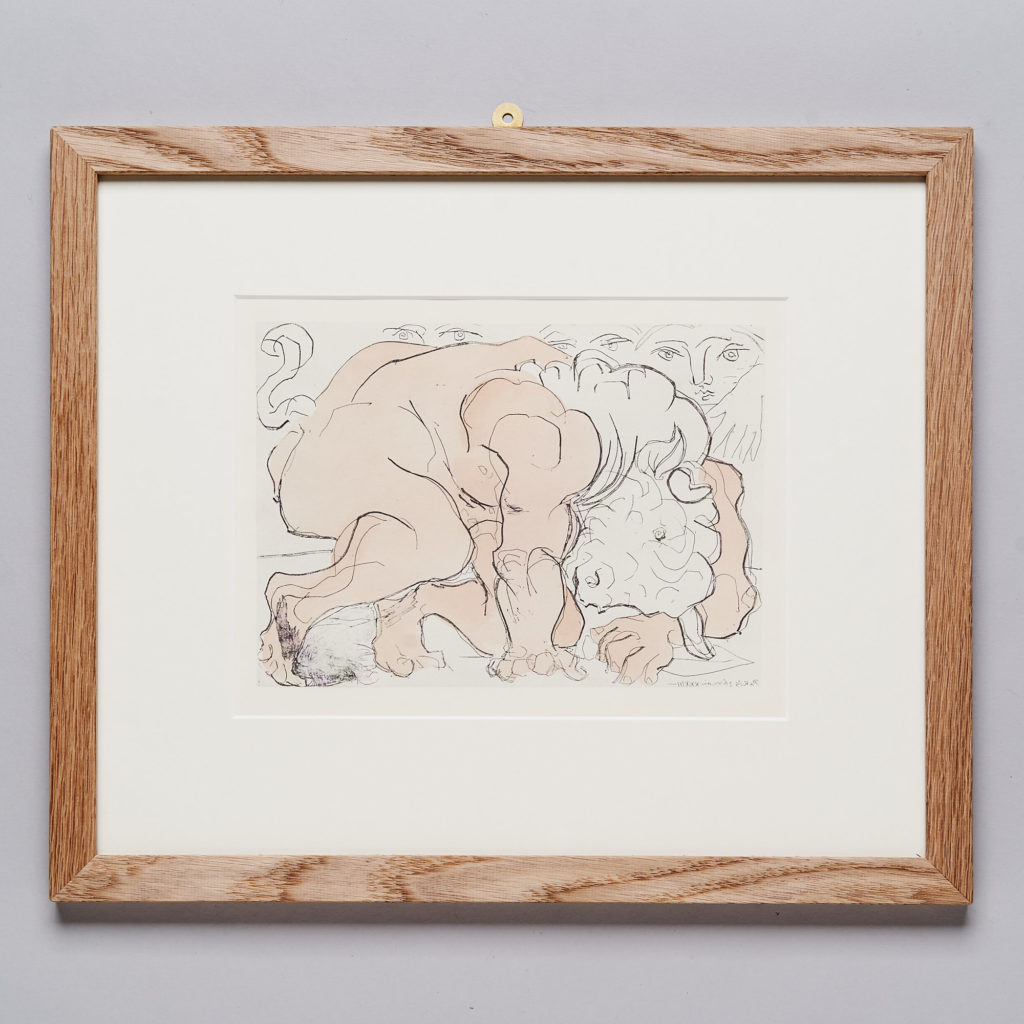 Hand coloured Pablo Picasso lithograph,-0