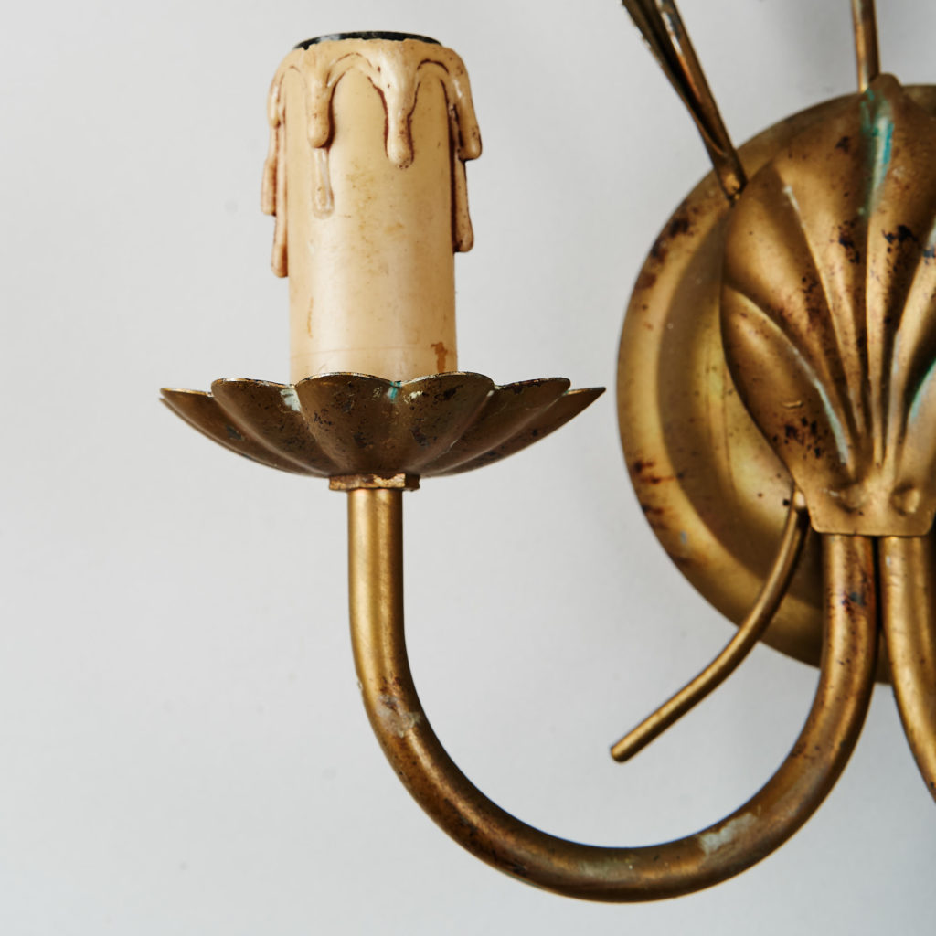 Gilt wheatsheaf sconce lights,-136206