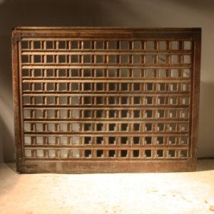 An English oak library screen gate-0