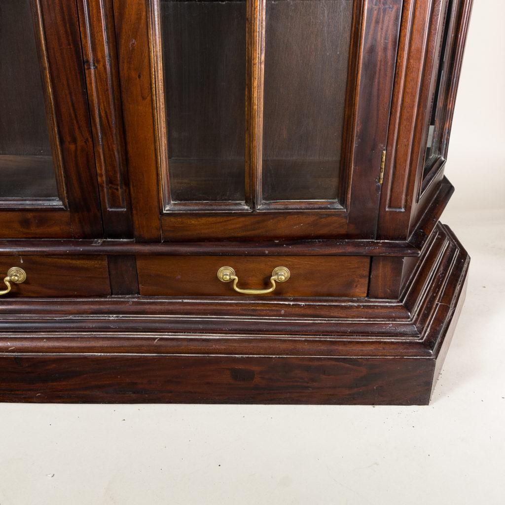 Twentieth century Indian hardwood and glazed display cabinet, -135490