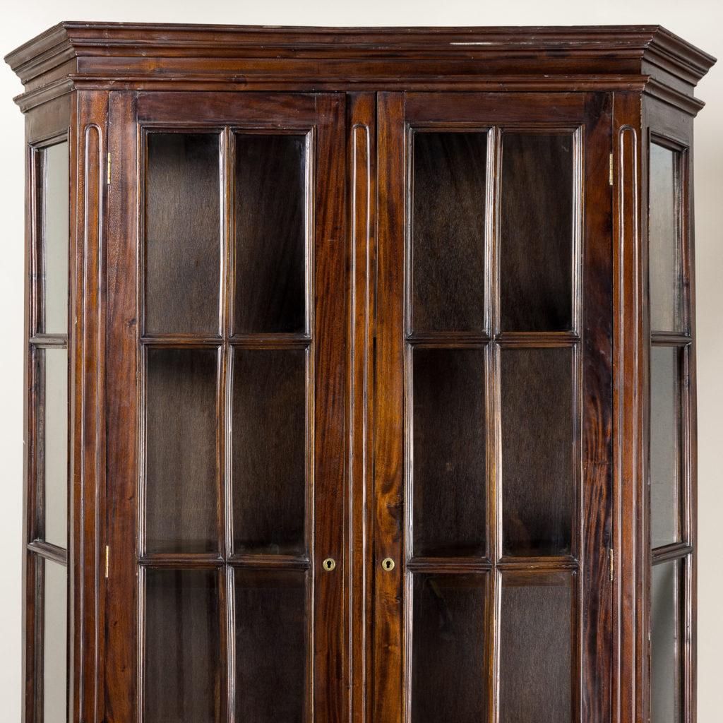 Twentieth century Indian hardwood and glazed display cabinet, -135483