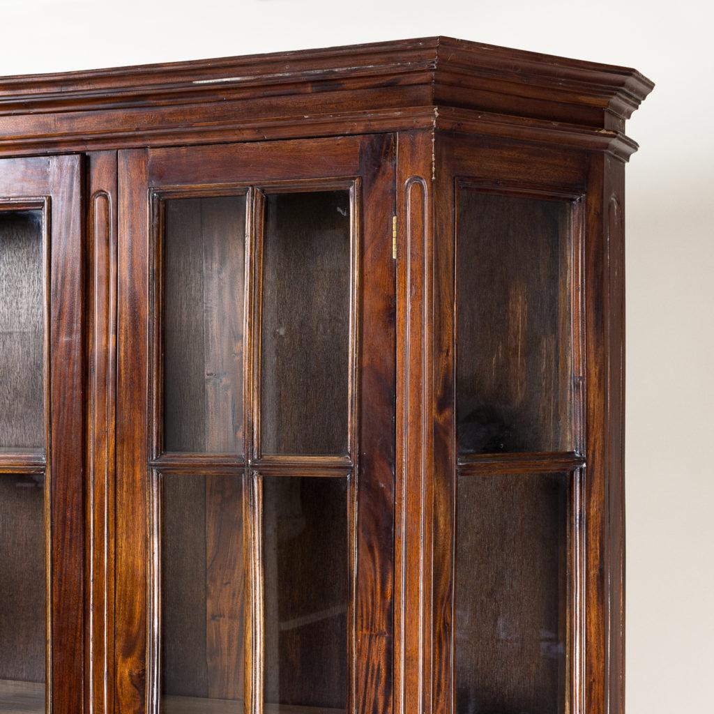 Twentieth century Indian hardwood and glazed display cabinet, -135482