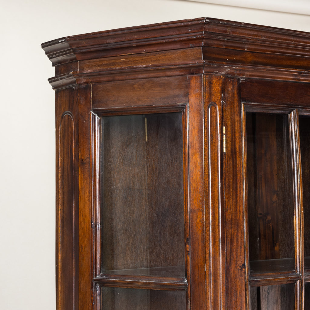 Twentieth century Indian hardwood and glazed display cabinet, -135486