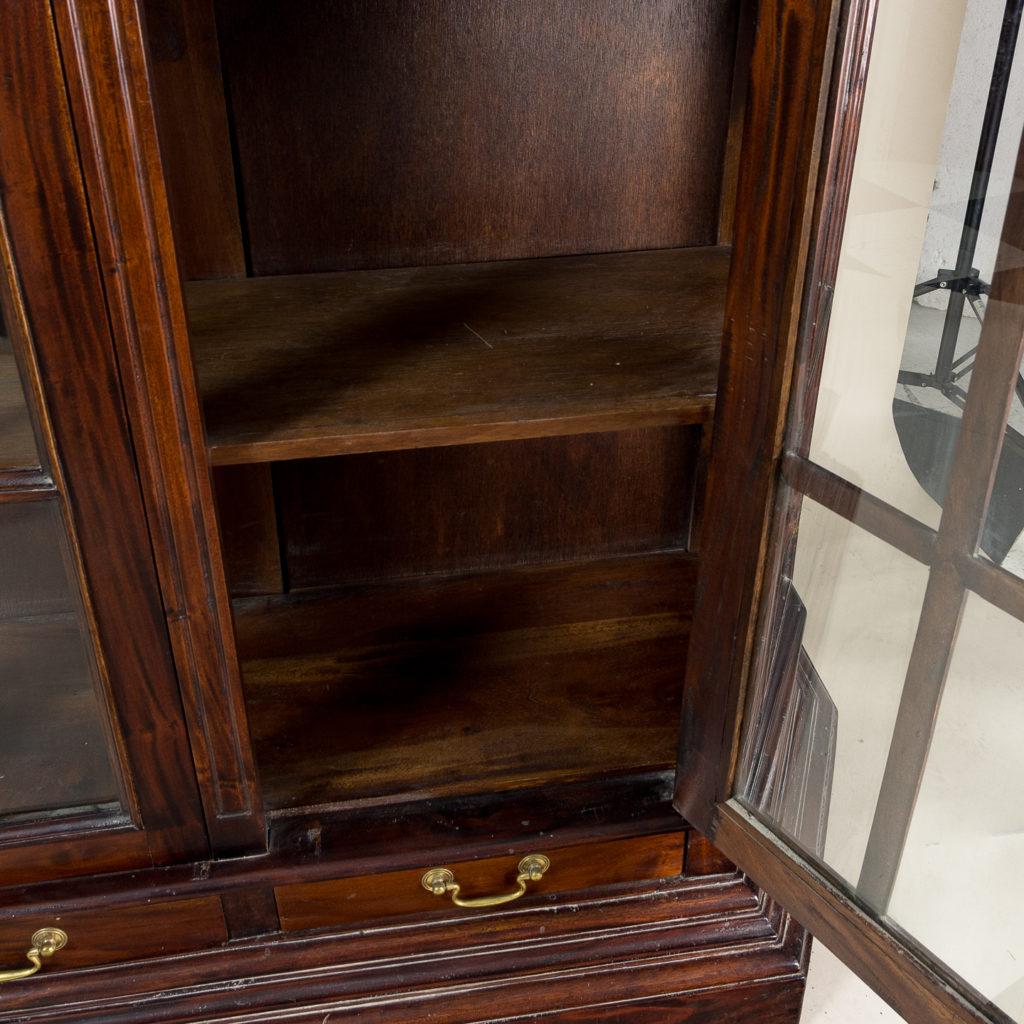 Twentieth century Indian hardwood and glazed display cabinet, -135485