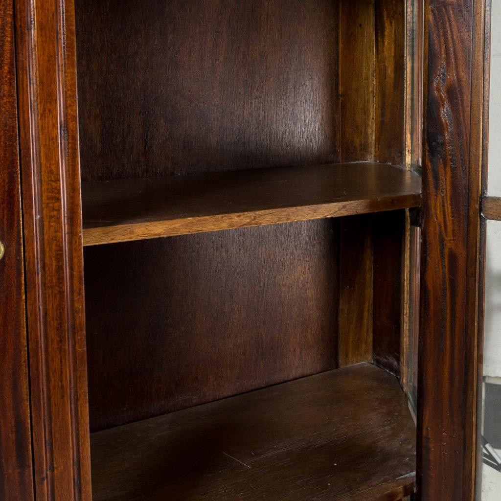 Twentieth century Indian hardwood and glazed display cabinet, -135487