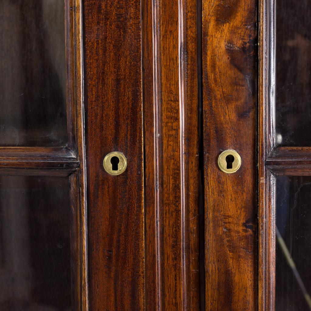 Twentieth century Indian hardwood and glazed display cabinet, -135488