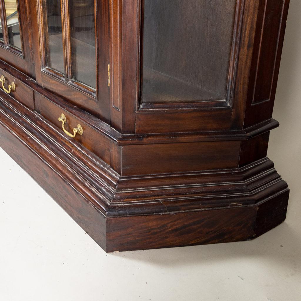 Twentieth century Indian hardwood and glazed display cabinet, -135489