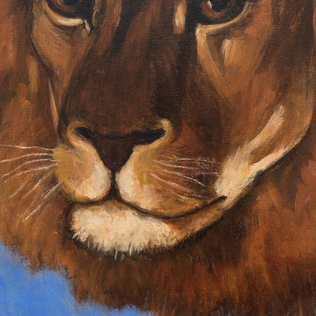 Majestic lion in a landscape-136221