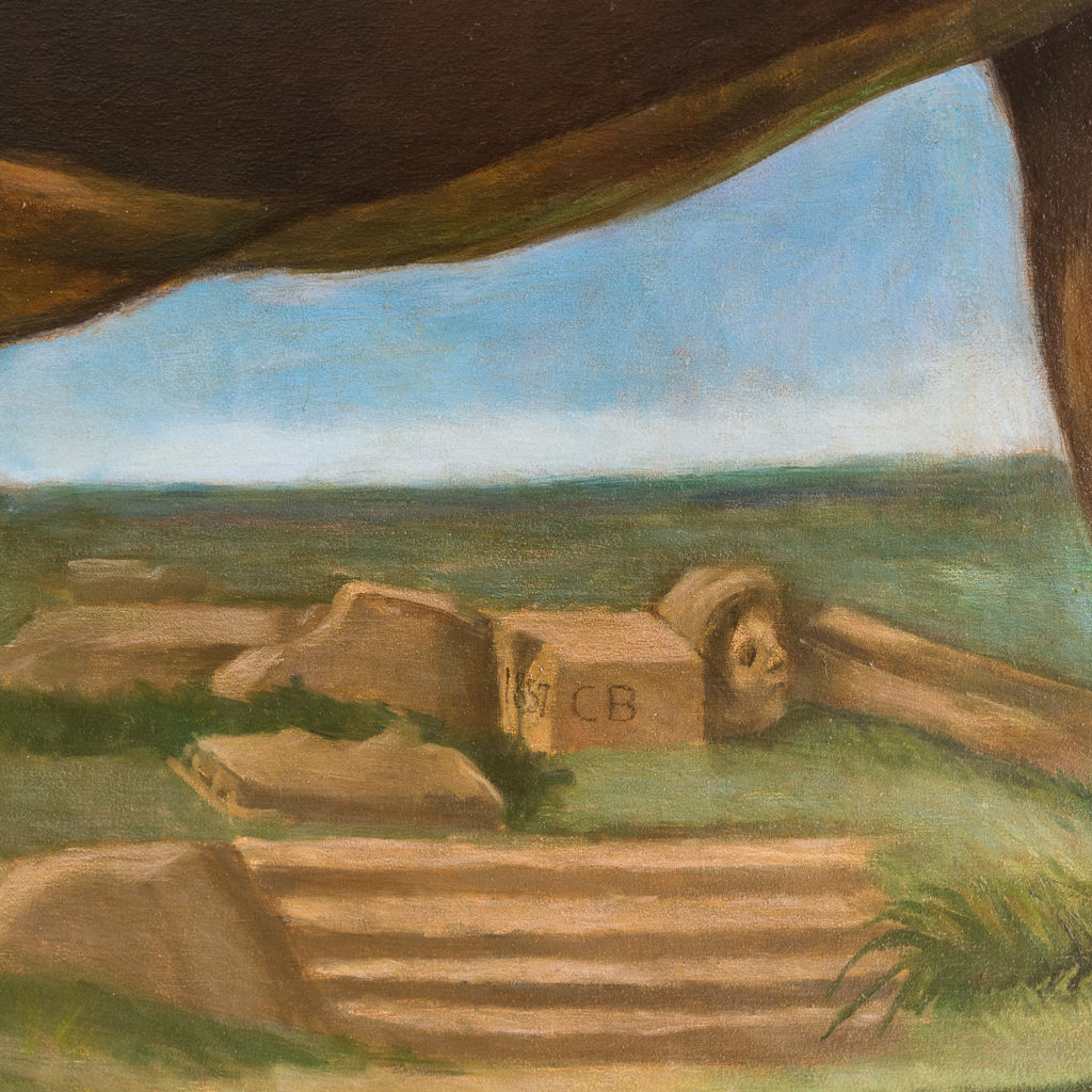 Majestic lion in a landscape-136223