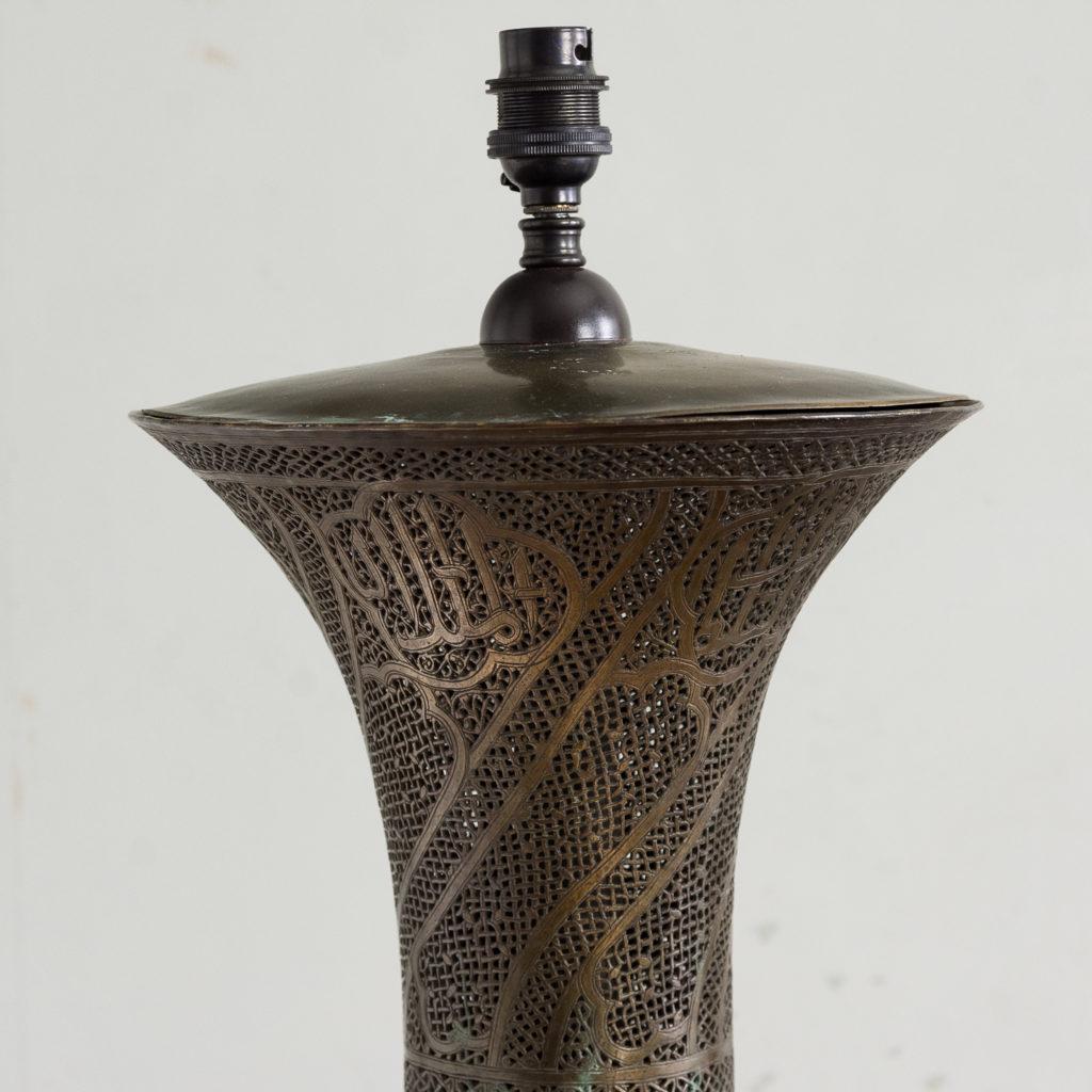 Late nineteenth century Moorish standard lamp,-135593