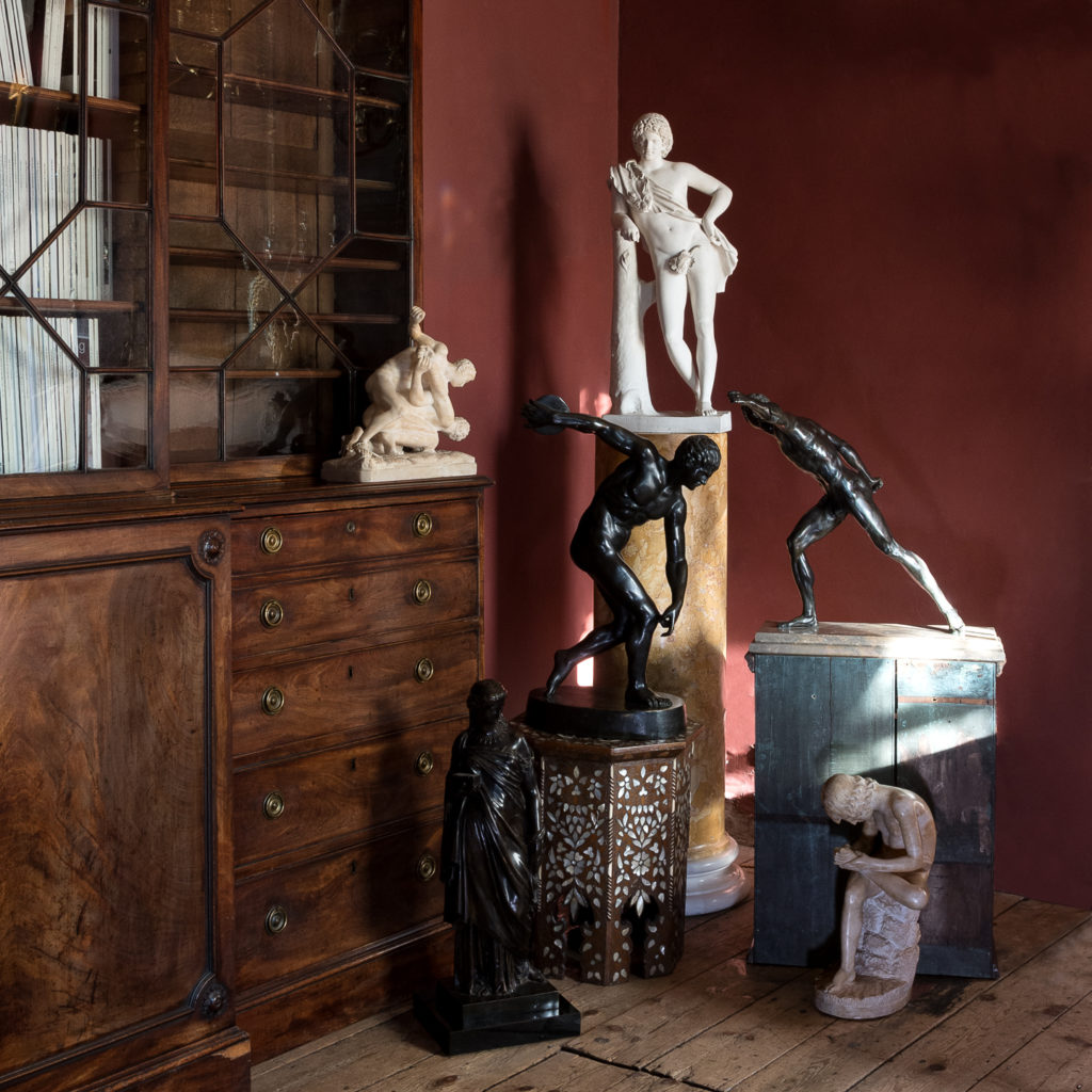 Nineteenth century Sienna Scagliola column,-135510