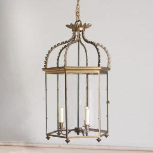 twentieth century brass hall lanterns,