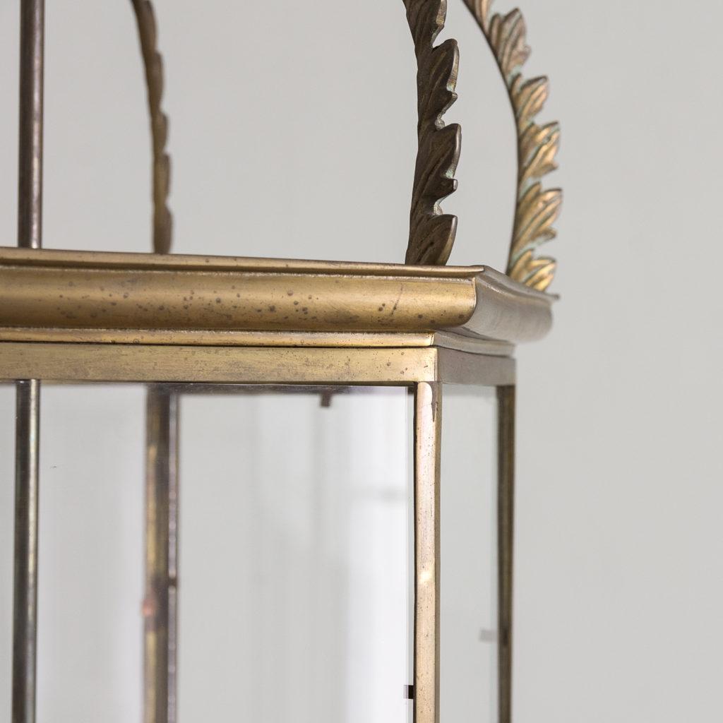 Two large twentieth century brass hall lanterns,-135300