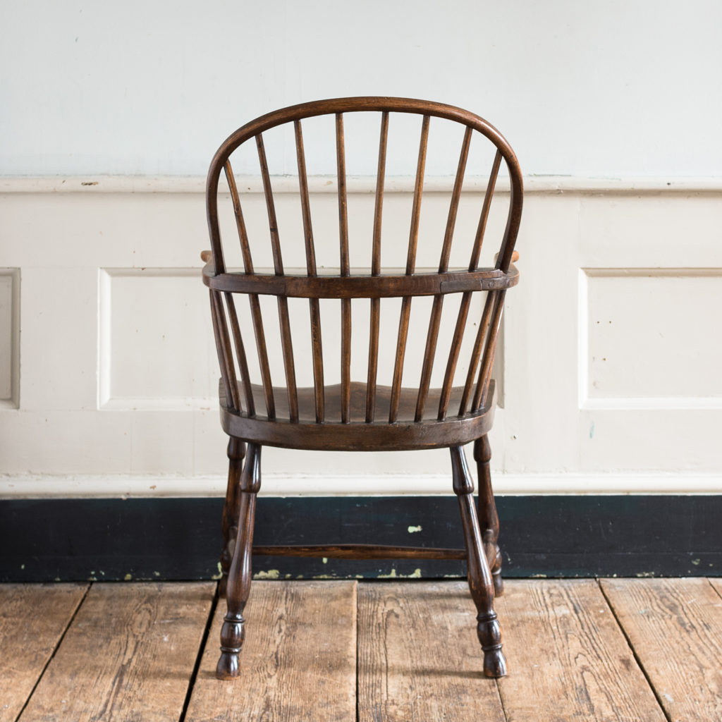 Late eighteenth century West Country Windsor chair,
