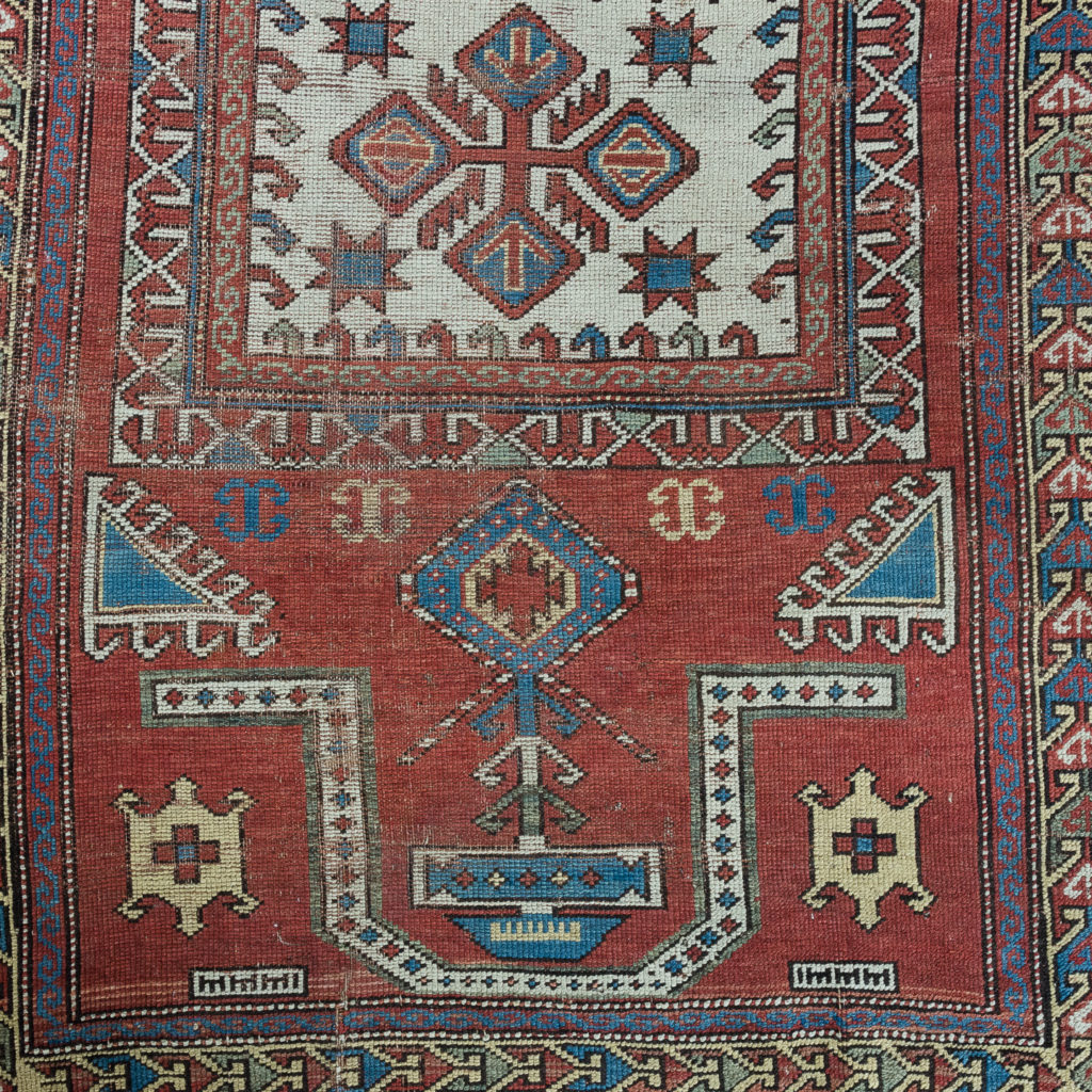Early twentieth century Kazak prayer rug,