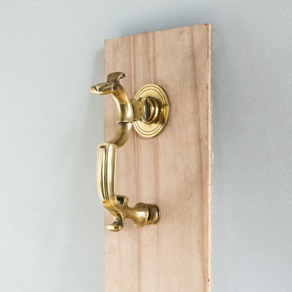 Cast brass Georgian style doctor's knocker,