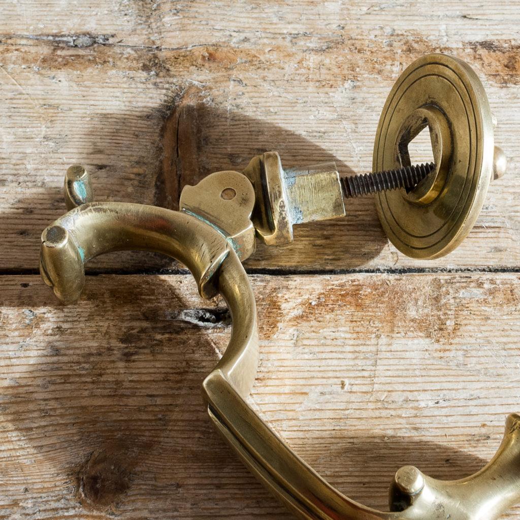 Cast brass Georgian style doctor's knocker,-136261