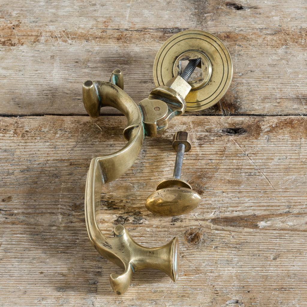 Cast brass Georgian style doctor's knocker,-136260
