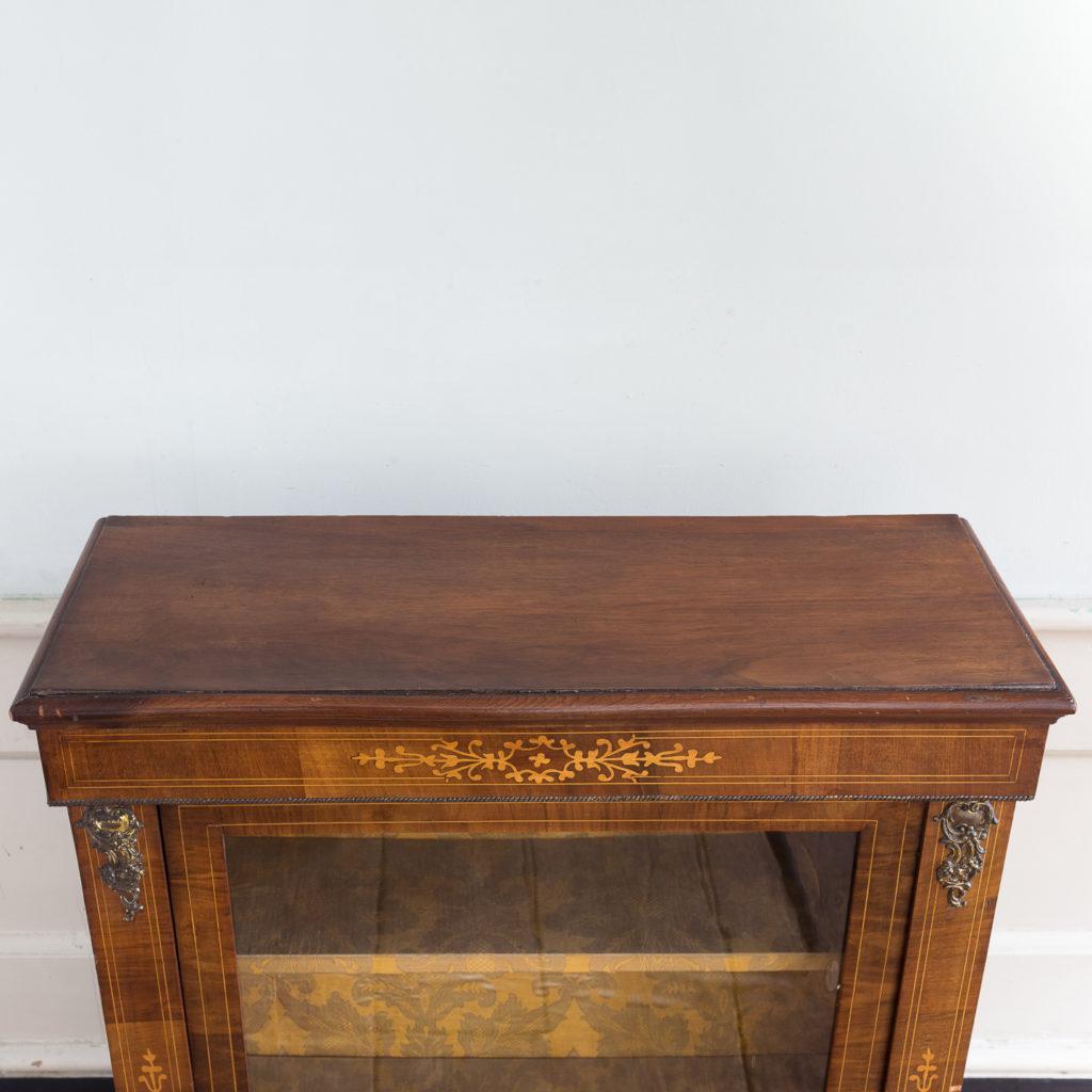 Late nineteenth century inlaid walnut pier cabinet, -136063
