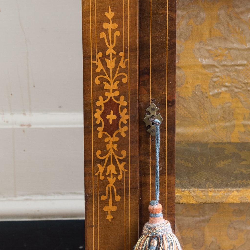 Late nineteenth century inlaid walnut pier cabinet, -136073