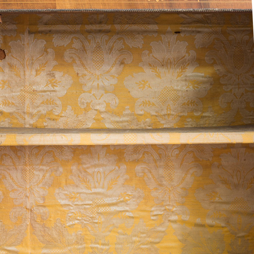 Late nineteenth century inlaid walnut pier cabinet, -136074