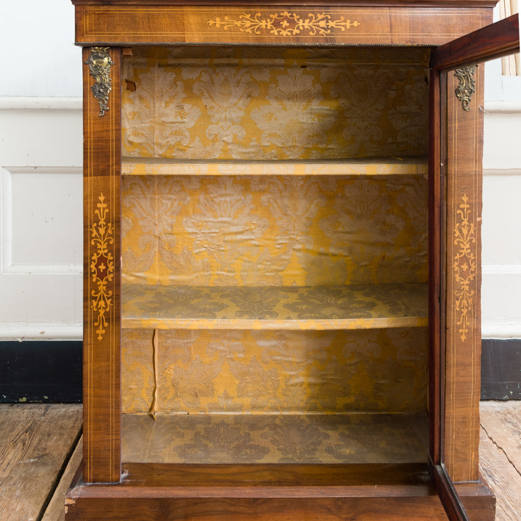 Late nineteenth century inlaid walnut pier cabinet, -136075