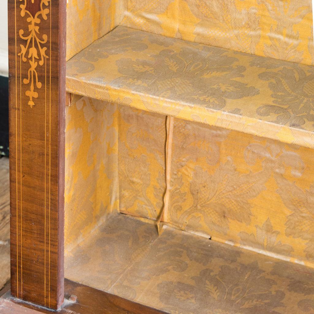 Late nineteenth century inlaid walnut pier cabinet, -136076