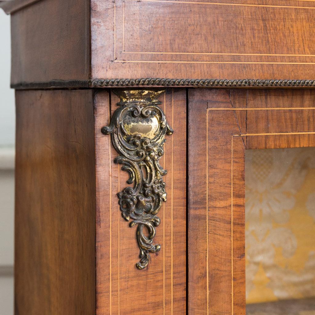 Late nineteenth century inlaid walnut pier cabinet, -136077