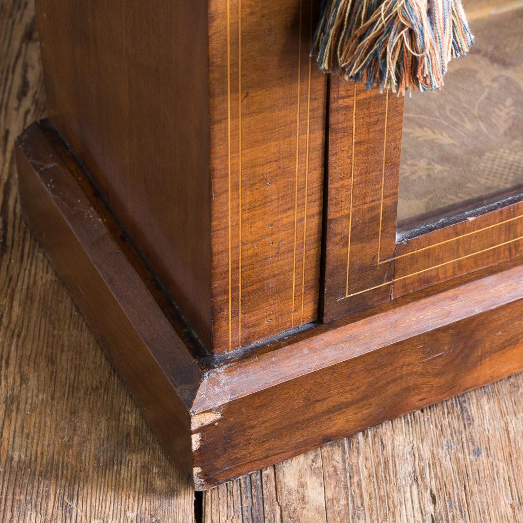 Late nineteenth century inlaid walnut pier cabinet, -136078