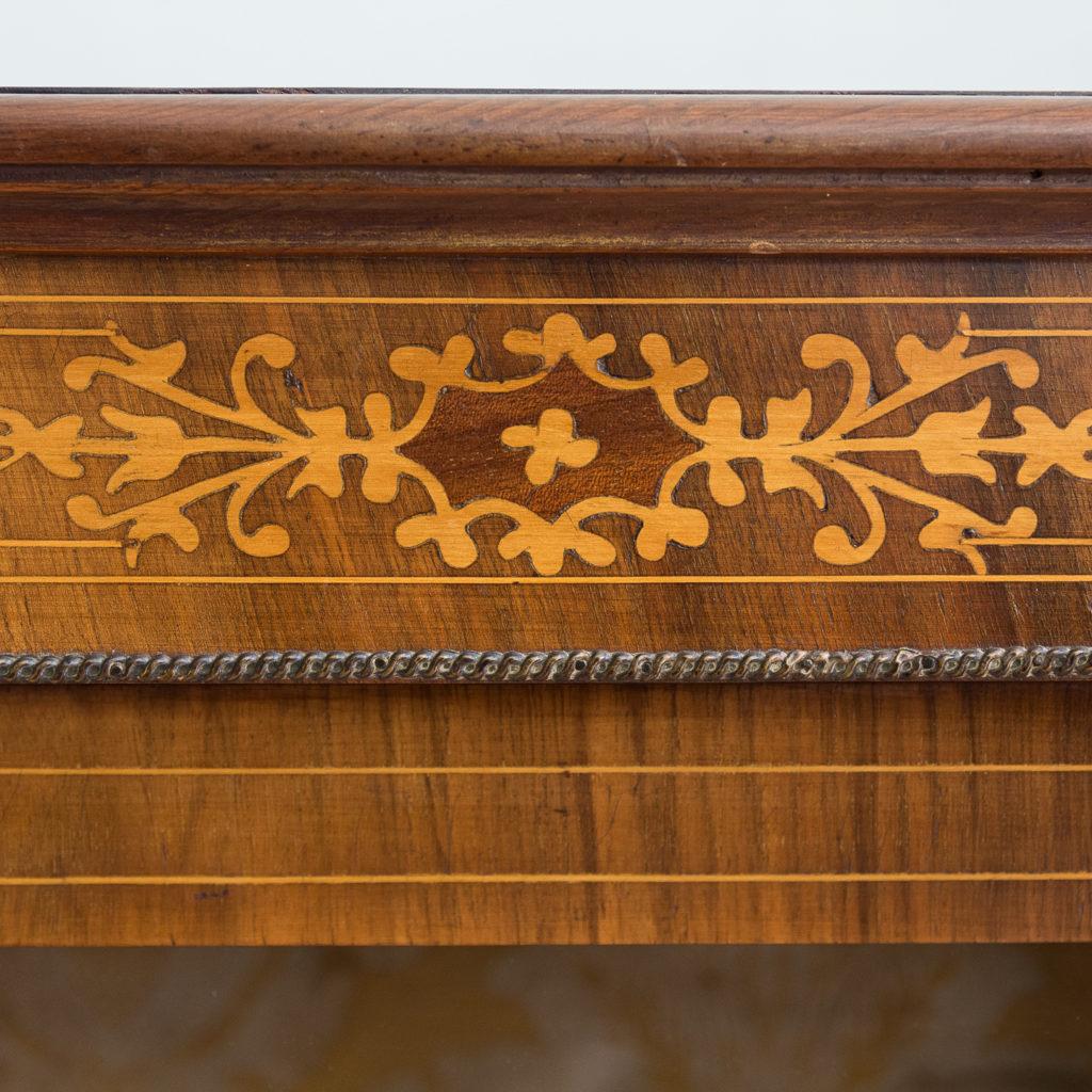 Late nineteenth century inlaid walnut pier cabinet, -136079