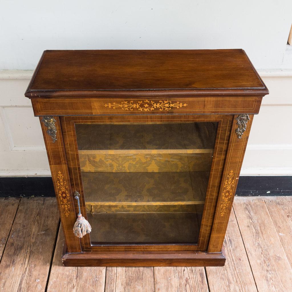 Late nineteenth century inlaid walnut pier cabinet, -136065