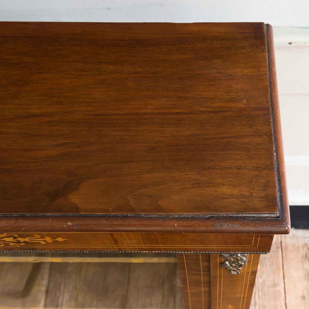 Late nineteenth century inlaid walnut pier cabinet, -136066