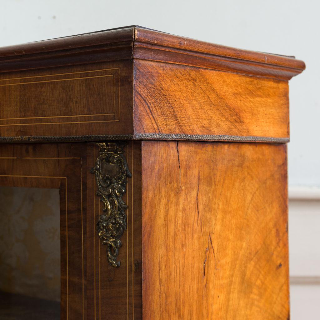Late nineteenth century inlaid walnut pier cabinet, -136070