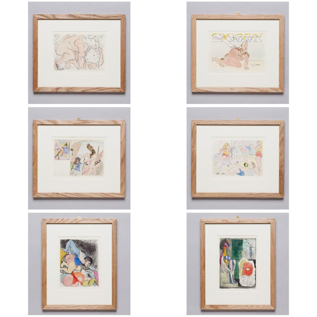Hand coloured Pablo Picasso lithograph,-135880