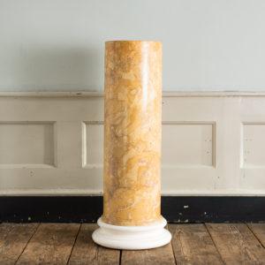Nineteenth century Sienna Scagliola column,