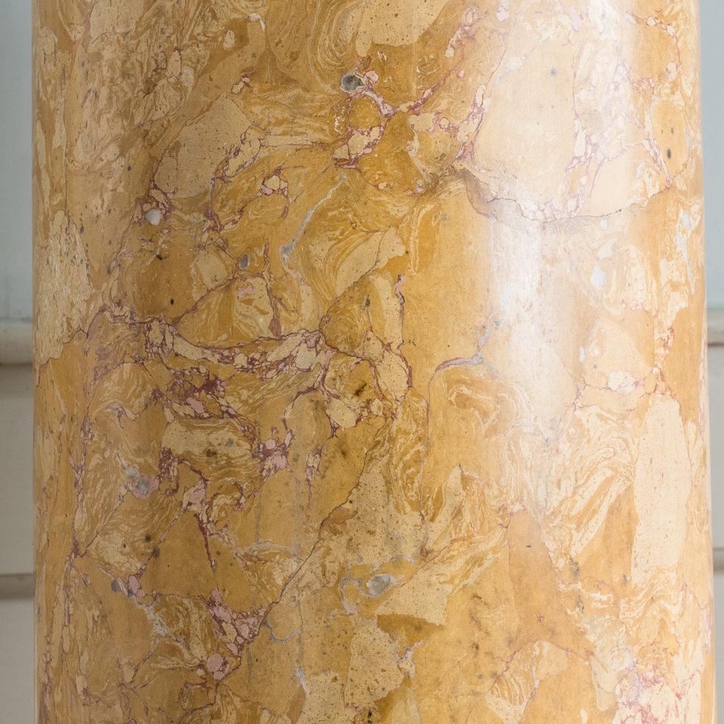 Nineteenth century Sienna Scagliola column,-135504