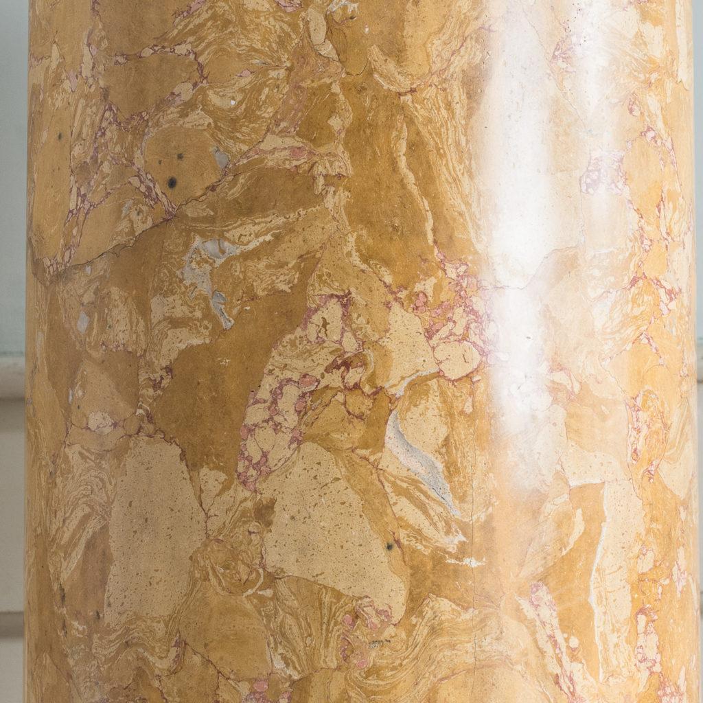 Nineteenth century Sienna Scagliola column,-135503