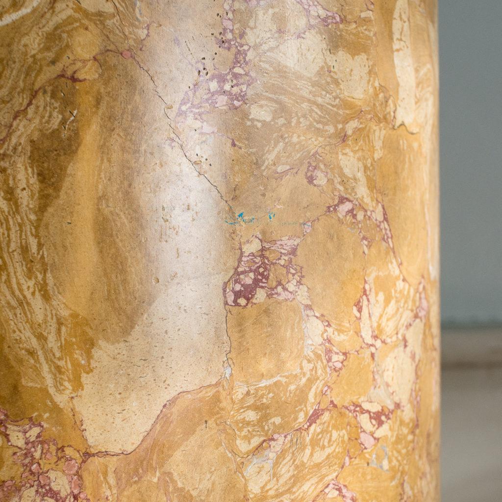 Nineteenth century Sienna Scagliola column,-135505