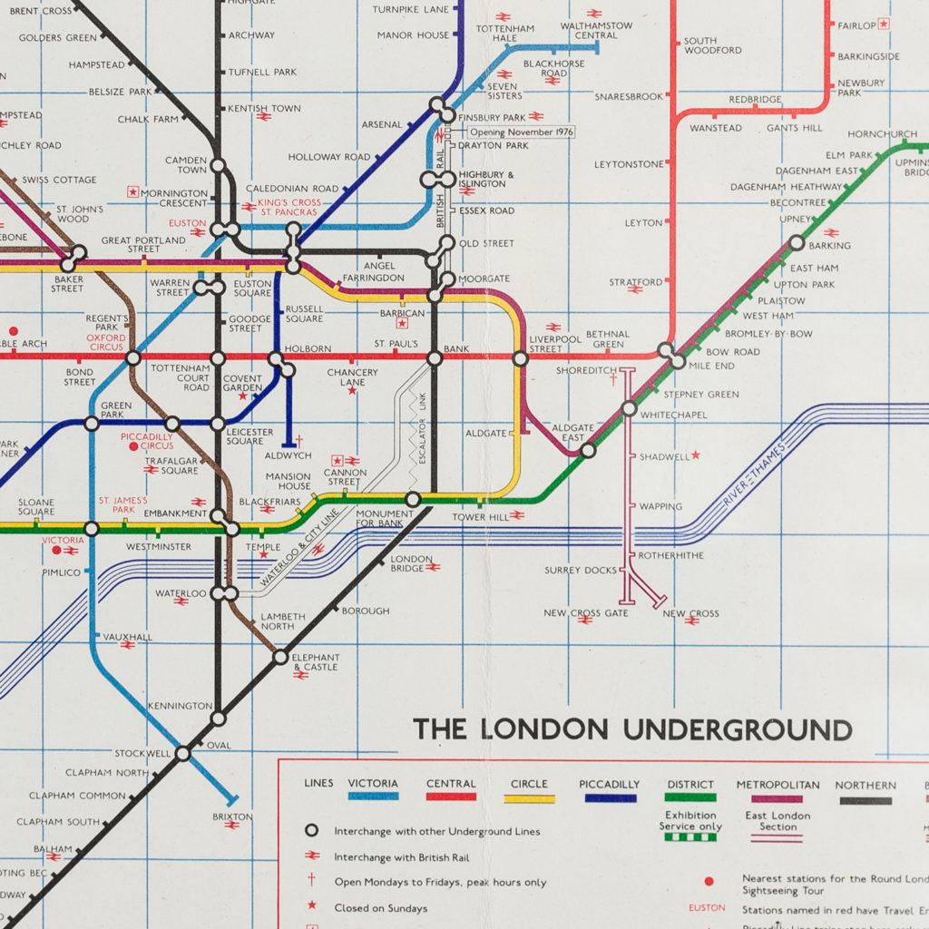 The London Underground 1976 No.1 map-135580