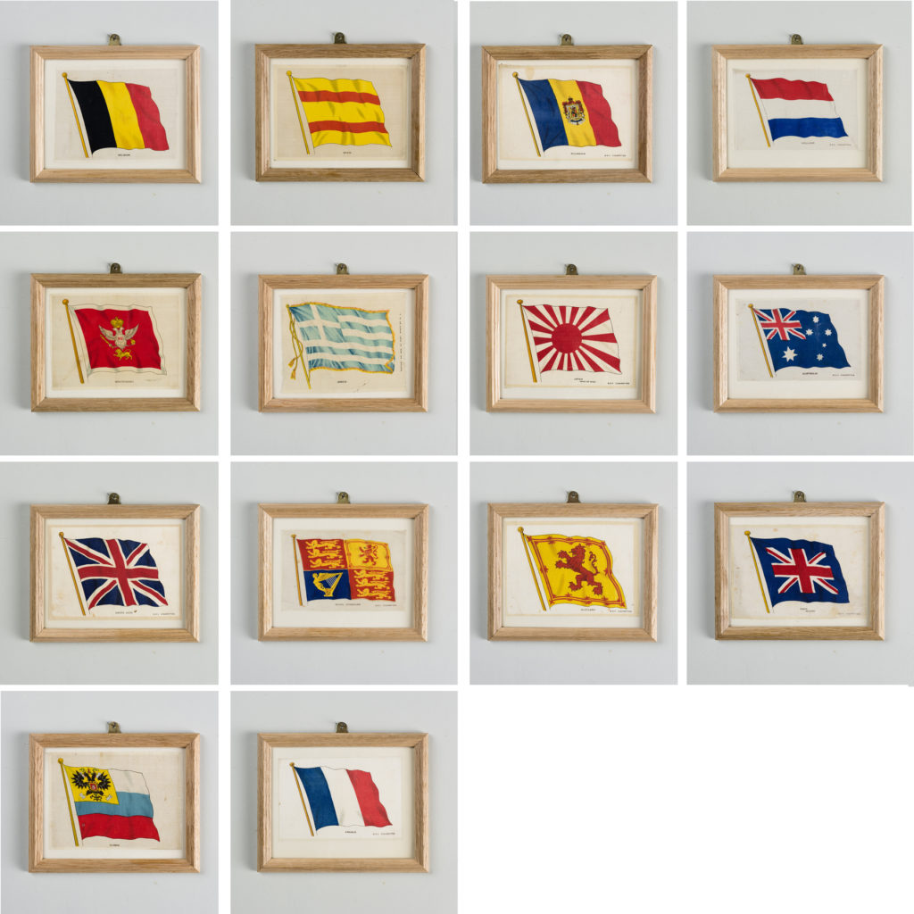 Silk Flags published circa 1918,