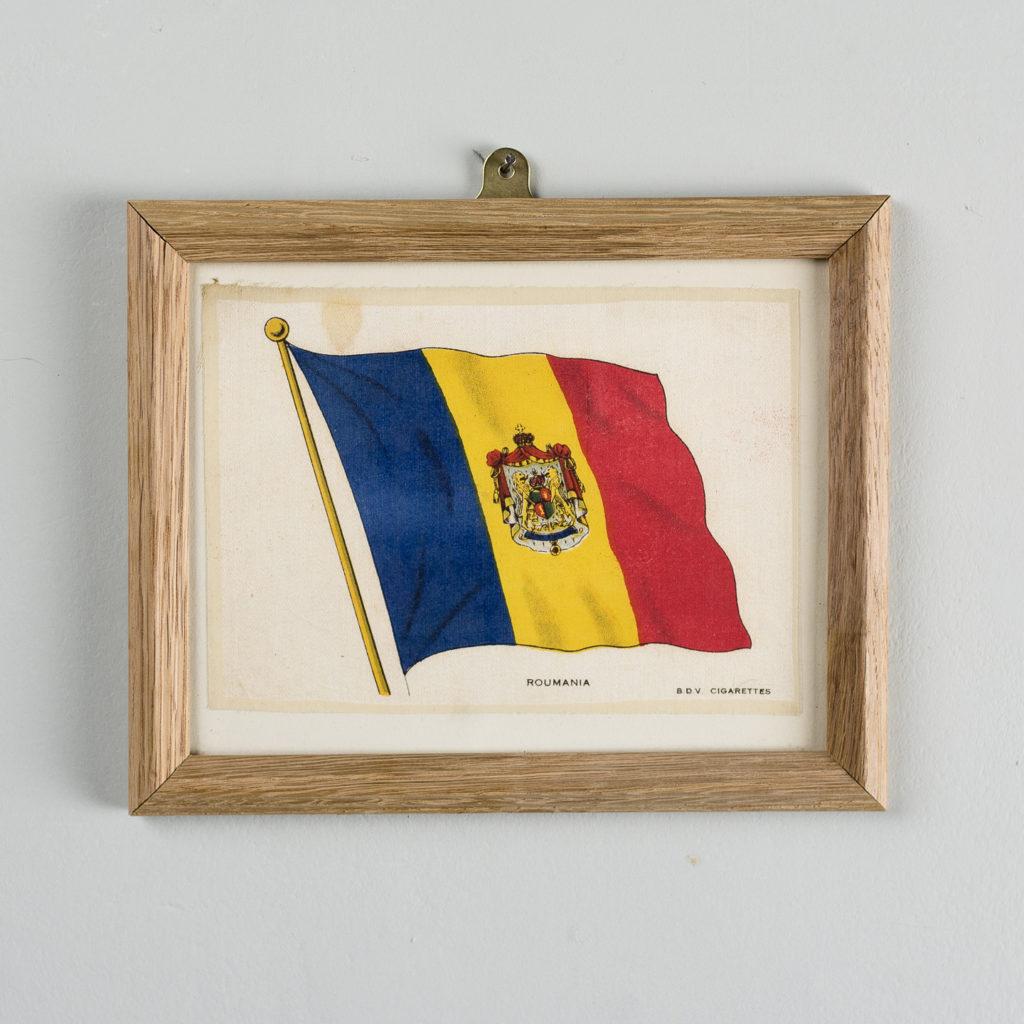 Silk collectors flags, original chromolithographs, Roumania