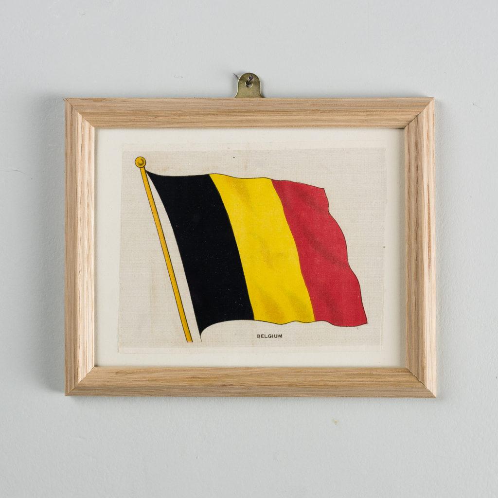 Silk collectors flags, original chromolithographs, Belgium