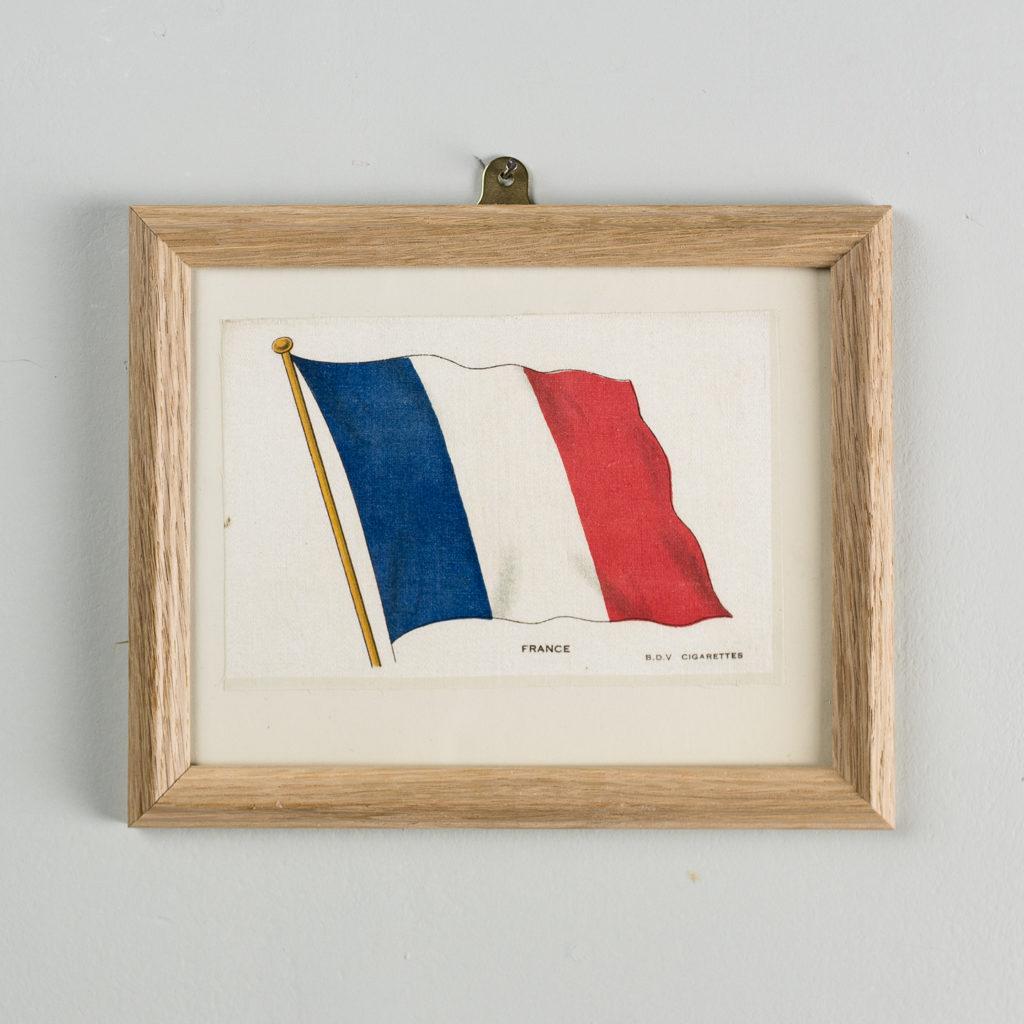 Silk collectors flags, original chromolithographs. 'France'.