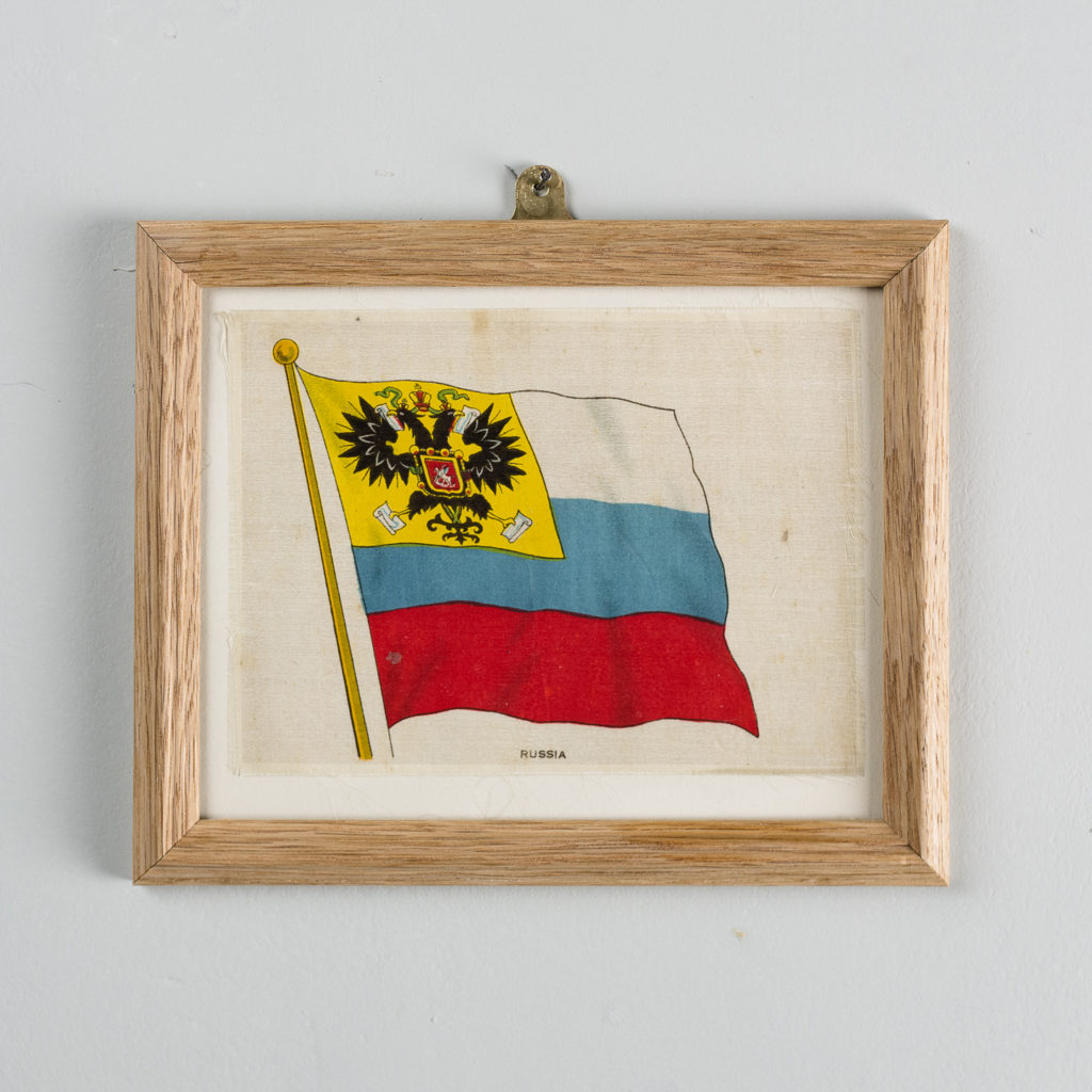 Silk collectors flags, original chromolithographs. 'Russia'