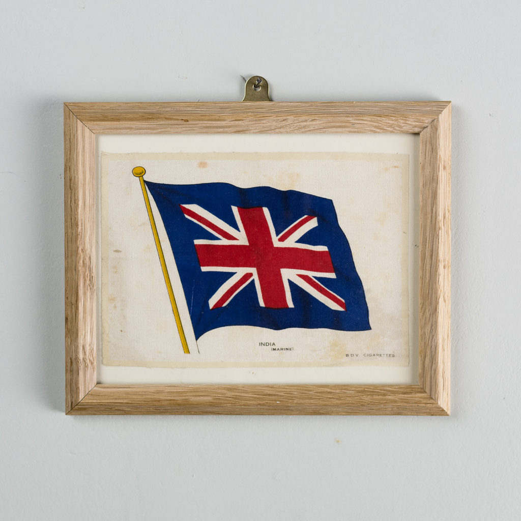 Silk collectors flags, original chromolithographs. 'India (Marine).'