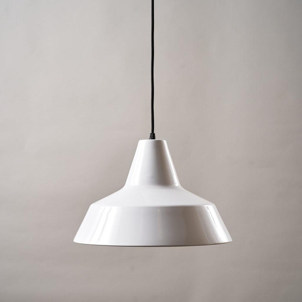 Danish enamelVærkstedspendel factory pendant light,-0