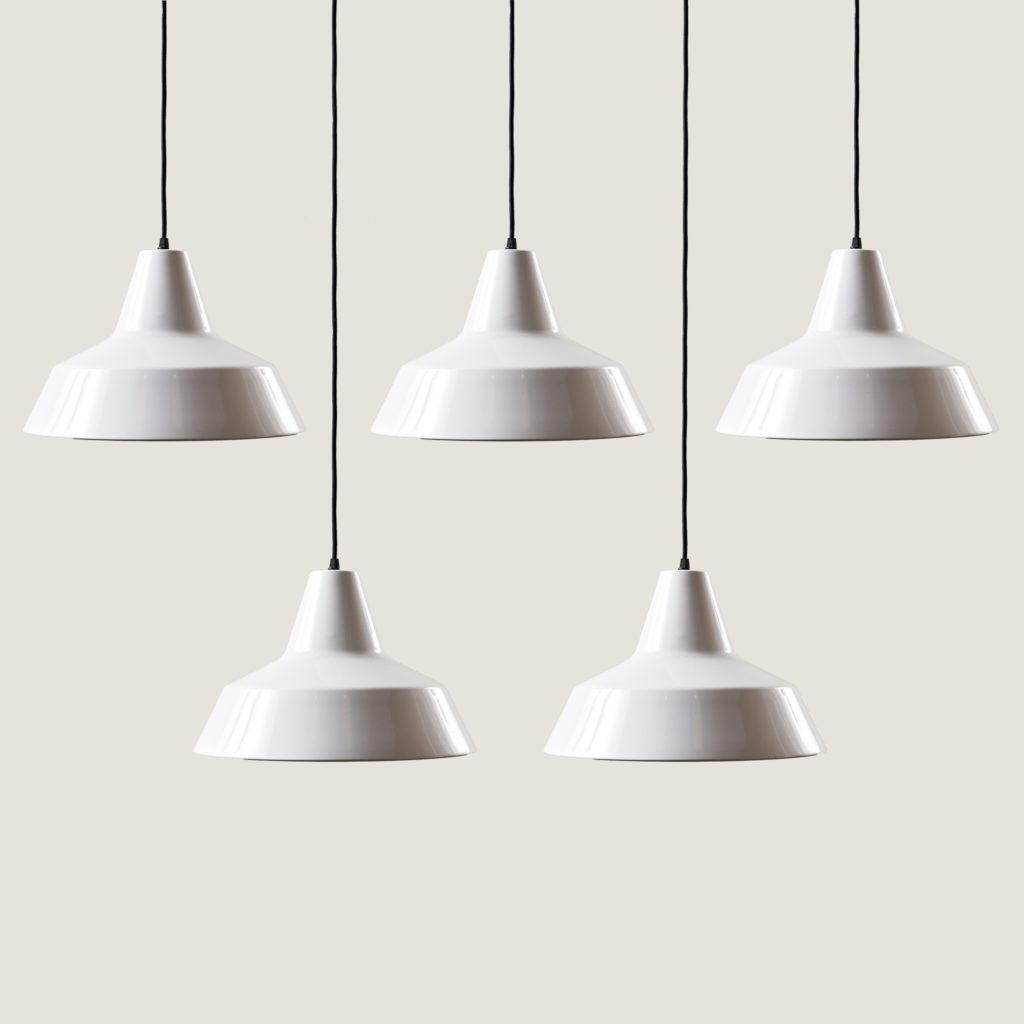 Danish enamelVærkstedspendel factory pendant light,-137095