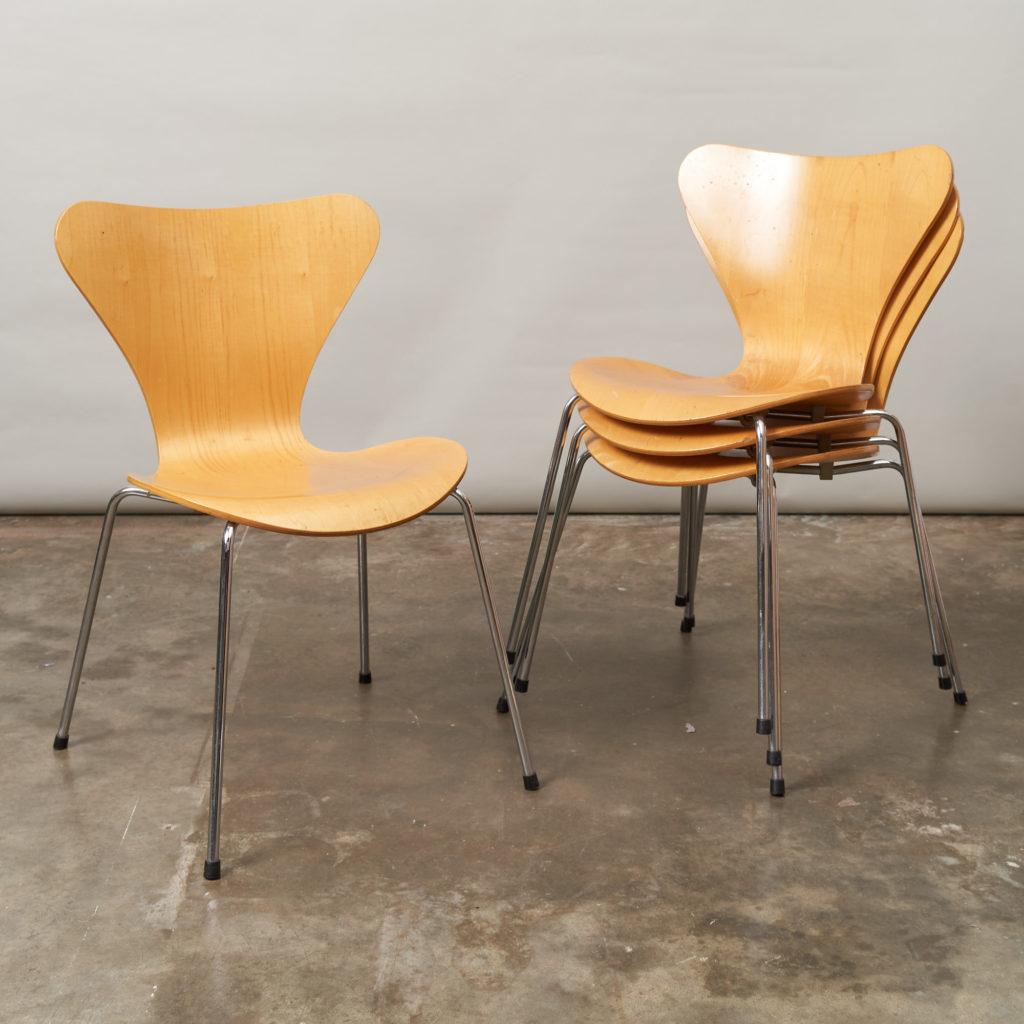 Set of Fritz Hansen series 7 dining chairs,-0