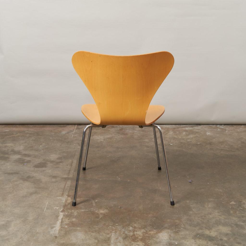 Set of Fritz Hansen series 7 dining chairs,-136773